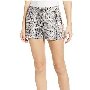 Pam & Gela Lace-up Back Snake Print Shorts - NWT
